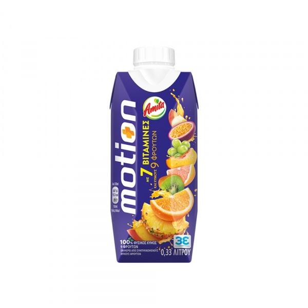 Amita Χυμός Motion 9 Φρούτα 330ml