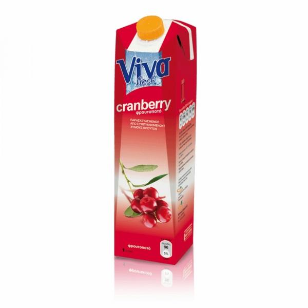 Viva Φρουτοποτό Cranberry 1lt