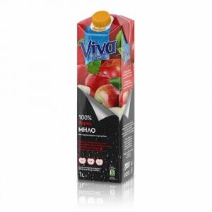 Viva 100% Χυμός Μήλου 1lt