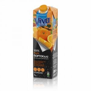 Viva 100% Χυμός Πορτοκάλι 1lt
